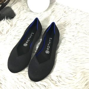 Rothy's Round Toe Ballet Flats Solid Black 8.5